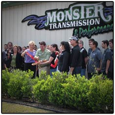 Monster Transmission Ribbon Cutting